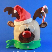 A Reindeer a minipanettone, typical italian sweet for Cristmas is dressed up as a reindeer