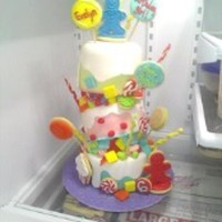 Candyland Topsy Turvy Cake All Kids Cake Orders Get Free Custom Design Sugar Cookies So I Decorated The Cake With Them Cake Sizes Are 4 Candyland Topsy Turvy Cake: All kids cake orders get free custom design sugar cookies, so I decorated the cake with them. Cake sizes are 4...