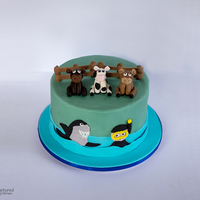 Cow Cake   Cake made for a farmer who likes diving in his spare time.