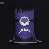 Purple Minion Cake Made For My Sons 7Th Birthday   Purple Minion cake made for my sons 7th birthday.