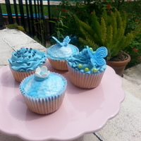 Blue Themed Birthday Cupcakes Blue themed birthday cupcakes
