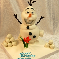 Olaf From The Movie Frozen Here is Olaf from the movie Frozen,He is all cake, Vanilla with Chocolate Hazelnut Ganache. Cover with modeling chocolate and cover with...