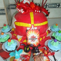Bakugan Cake And Dragon Egg Cupcakes Made For My Sons 6Th Birthday Bakugan cake and dragon egg cupcakes made for my son's 6th birthday