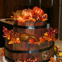 Harvest Time This is the wedding cake I made for our Daughter in October.. I did use plastic pumpkins and gourds but everything else is edible except...