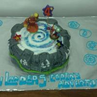 Birthday Cakes  Skylanders portal birthday cake for a friend's 4 year old son's birthday. The walls are made of marshmallow fondant, which I...