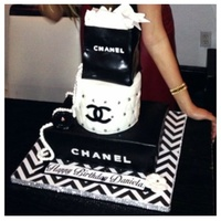 Chanel Cake Red Velvet With Nutella Filling Chanel cake red velvet with Nutella filling