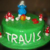 Smurfs Cake For My Sons 5Th Bday Smurfs cake for my son's 5th bday..