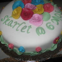 May Flower Themed Cake For My Baby's 6 Months Celebration