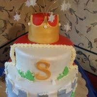 "My 6 Year Old Son Wanted A Snow Kingdom Cake With A Cape And A Crown This Is What I Came Up With My 6 year old son wanted a ""Snow Kingdom"" cake, with a cape and a crown. This is what I came up with :)"