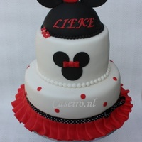 "Birthday Cake Minnie Mouse Red Birthday Cake Minnie Mouse ""Red"""