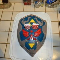 Link's Shield Cake - Brother's 23Rd Birthday 2012 My first fondant cake :D Link's Shield