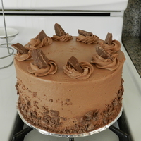 Bakery Style Chocolate Cake This cake I was going for that simple everyday cake you look for in a bakery. Chocolate cake, chocolate buttercream, almond bark pieces on...