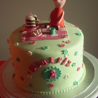 Peppa Pig Cake   Peppa pig 4 layer sponge cake with choc ganache, everything is edible and handmade