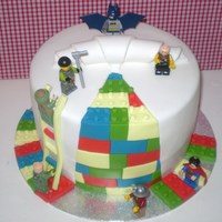 Lego Cake  Seen this cake design many time and always wanted to make it, finally someone asked me for a lego cake!! :) not too bad for my first go,...
