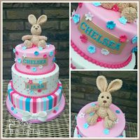 Fluffy Bunny Birthday Cake A Sweet Birthday cake with a bunny to fall in love with.