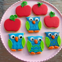 Apple And Owl Cookies   Apple and Owl cookies
