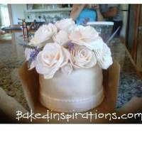 Baked Inspirations Weddings Gumpaste Roses with real lavender sprigs