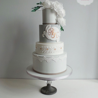 New Cake Design For My 2014 Collection Using My Current Favourite Colour French Grey And All Time Favourite Flowers Peonies New cake design for my 2014 collection using my current favourite colour, french grey, and all time favourite flowers - peonies