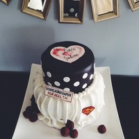 Ilovelucy Bridalshower Cake Superman Vitameatavegamin Chocolates #ilovelucy #bridalshower #cake #superman #vitameatavegamin #chocolates