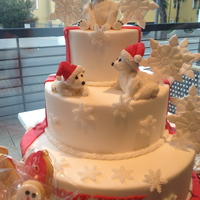 White Bear Christmas Cake