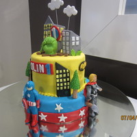 Super Heros Made on request of a 4 year old boy for his brother's 1st B'day!!!!