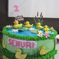 Duck Pond I made this cake for a little girl who loves rubber ducks. Ducks are made out of fondant icing.
