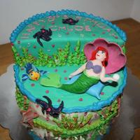 The Little Mermaid Cake (Ariel And Flounder) 'Little Mermaid' Cake Ariel and Flounder