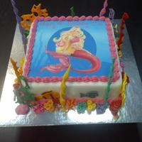 Barbie Mermaid Cake Barbie Mermaid Cake with Coral