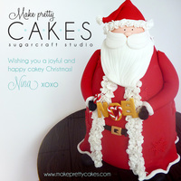 3D Santa Cake - My First Post On Cake Central You know you are cake obsessed when everything you look at has potential to become a cake. I've been wanting to recreate this gorgeous...
