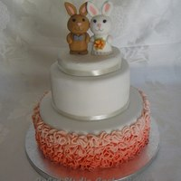 Wedding Cake With Bunnies.