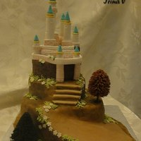My First Castle Cake.   This cake was for a Birthday party.