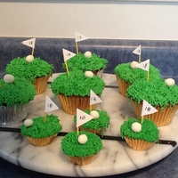 Going On 18 Again Golf Cupcakes