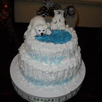 Polar Bear Christmas Cake Bears Are Made Of Gumpaste Icicles And Merry Christmas Are Made Of Royal Icing French Vanilla Buttercreme Icng Polar Bear Christmas Cake. Bears are made of gumpaste. Icicles and Merry Christmas are made of royal icing. French Vanilla buttercreme icng...