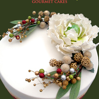 Seasonal Occasion Cakes An Australian Christmas Cake - with sugar peony.