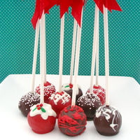Christmas Themed Cake Pops In Cherry Ripe Truffle Christmas Themed Cake Pops in Cherry Ripe Truffle