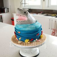 Shark Cake First time using RKT to sculpt this sharks head for a Jaws obsessed boy!I was extremely happy with the shark, although I wasn't...