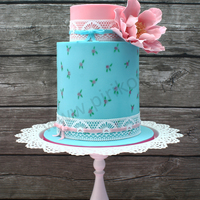 Shabby Chic Shabby Chic proposal for wedding cake