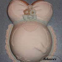 Baby Bump Pregnant Belly Foot Cake I Dont Really Care For These Type Of Cakes So I Tried To Make This One As Feminine And Tasteful As Baby Bump Pregnant Belly Foot Cake! I don't really care for these type of cakes, so I tried to make this one as feminine and tasteful...