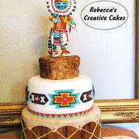 Native American Kachina On Drum Cake Native American Gum Paste Kachina Doll on Drum. Sculpted from gum paste and fondant. The entire cake is 100% edible, including the Kachina...
