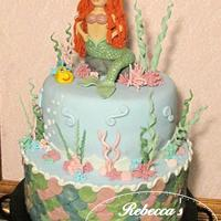 Ariel Little Mermaid Cake Little Mermaid Ariel cake. I wanted to keep the colors feminine!