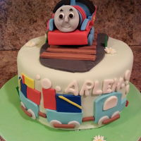Thomas The Train Cake chocolate cake with chocolate buttercream, fondant, gumpaste