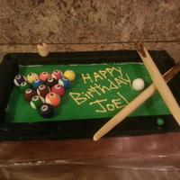 Pool Table Birthday Cake. Carrot Cake.   *