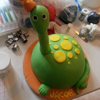 Dino Cake french vanilla cake with dulce de leche filling