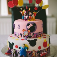 Girls Mickey Mouse Clubhouse Cake.