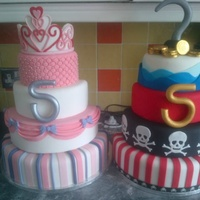 Cake Of 2 Halves For My Girlboy Twins Cake of 2 halves for my girl/boy twins!