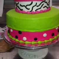 This Cake Was Made With Buttercream Icing At My Work We Dont Use Fondantthis Was For A 16 Year Olds Birthday Party this cake was made with buttercream icing, at my work we don't use fondant...this was for a 16 year olds birthday party