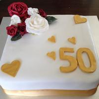 50Th Wedding Anniversary My First Anniversary Cake And First Square Cake Too Choc Mud And Vanilla Frosting I Used Artificial Flowers Beca 50th Wedding AnniversaryMy first anniversary cake and first square cake, too! Choc mud and vanilla frosting. I used artificial flowers...