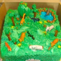 Jungle Themed Birthday Cake With Fondant And Buttercream Jungle themed birthday cake with fondant and buttercream