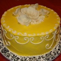 Sweets By Josie Coconut pineapple rum cake with buttercream icing