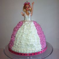 Princess Cake  This is the first time I made a princess cake. I used the Wilton Wonder Doll mold, sold at Michaels. I used 2 white cake box mixes. I...